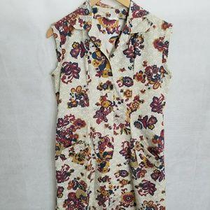 Women's 1960s Sleeveless Housedress